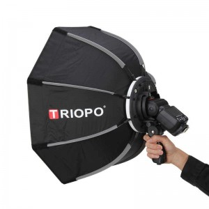 Softbox bát giác Triopo KS90 cho đèn flash speedlite Grid