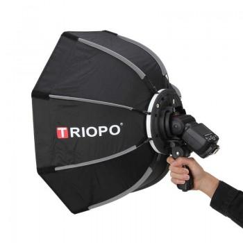 Softbox bát giác Triopo KS90 cho đèn flash speedlite Grid