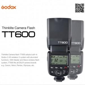 Đèn Flash Godox TT600 cho Canon, Nikon, Sony, Pentax - GN60 - HSS 1/8000s Remote 2.4GHz