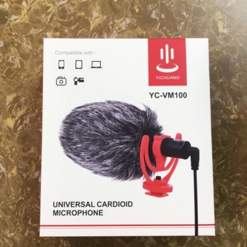 Mic thu âm Boya YC-VM100 đa năng cho máy ảnh, máy quay, smartphone